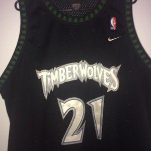best service 4ce04 cce91 Kevin Garnett Minnesota Timberwolves black Jersey